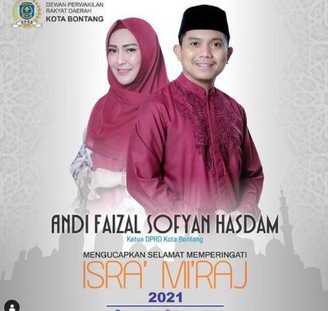 Andi Faizal Ketua DPRD Kota Bontang DPRD Kota Bontang Habar Kaltim Isra Mi'raj