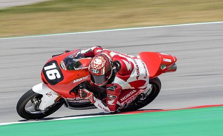 CEV Moto3 Mario Suryo Aji pole position